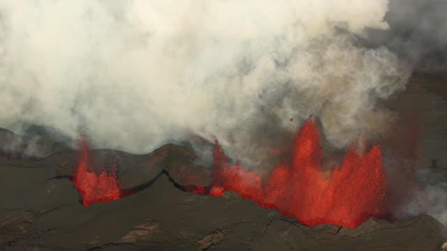 bardarbunga : volcano eruption and lava flow (2014) - erupting stock videos & royalty-free footage