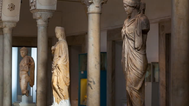 bardo national museum - tunisia stock videos & royalty-free footage
