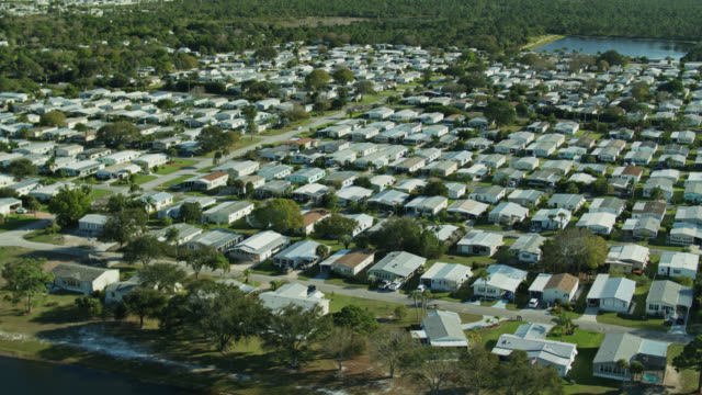 barefoot bay manufactured home community from the air - florida us state stock videos & royalty-free footage