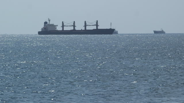 barge in sea of marmara - marmara stock videos and b-roll footage