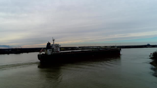 Barge Ship on River Louisiana