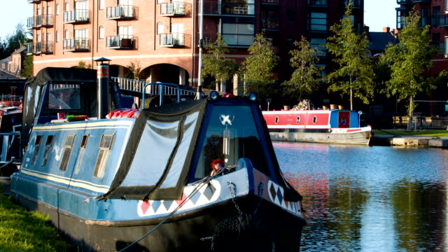 barges and houseboats - chester england stock videos and b-roll footage