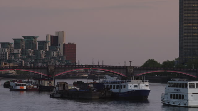 WS Barges on Thames River / London, UK