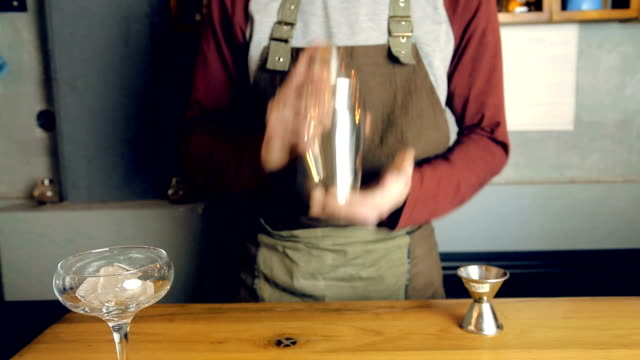 barista at work - mixing stock videos & royalty-free footage