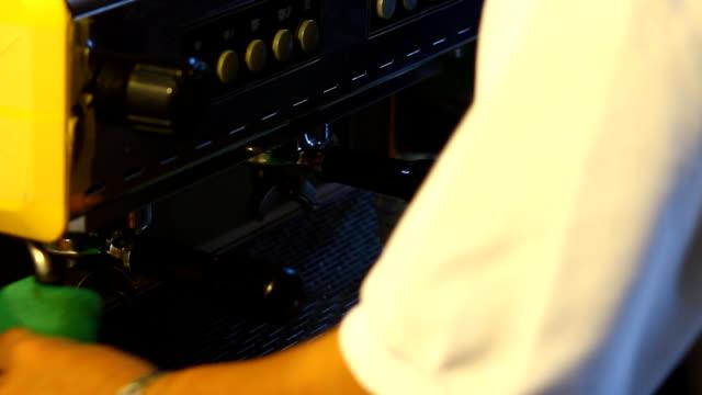 Barista Cafe Making Coffee Preparation Service with coffee machine