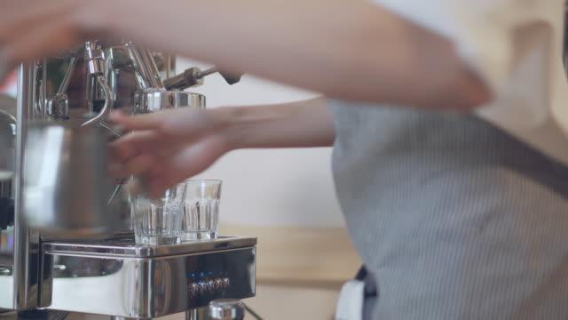 Barista making a drink