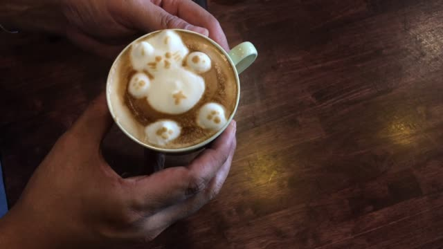 barista making latte art in coffee shop - shaking stock videos & royalty-free footage