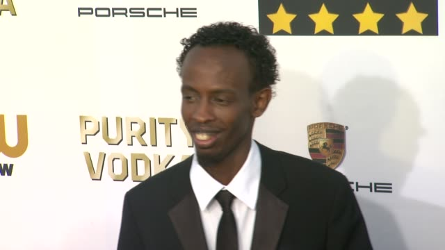 Barkhad Abdi at 19th Annual Critics' Choice Movie Awards Arrivals at The Barker Hanger on in Santa Monica California