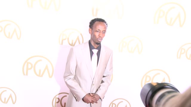 vidéos et rushes de barkhad abdi at 25th annual producers guild awards at the beverly hilton hotel on in beverly hills, california. - producer's guild of america awards