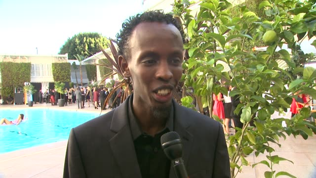 interview barkhad abdi on what this award season has been like for him at the 86th academy awards nominee luncheon interviews at the beverly hilton... - the beverly hilton hotel stock videos & royalty-free footage