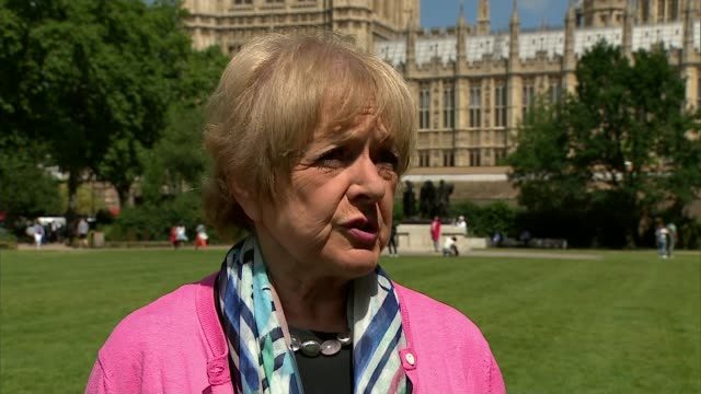 housing minister takes questions in the commons one week after the fire england london ext dame margaret hodge mp interview sot - マーガレット・ホッジ点の映像素材/bロール