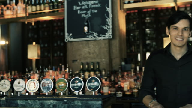 barman - pub stock videos & royalty-free footage