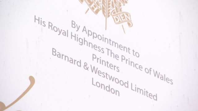 Wedding invitation videos and b roll footage getty images barnard westwood official printers of prince harry meghan markles wedding invitation at barnard and westwood on stopboris Image collections