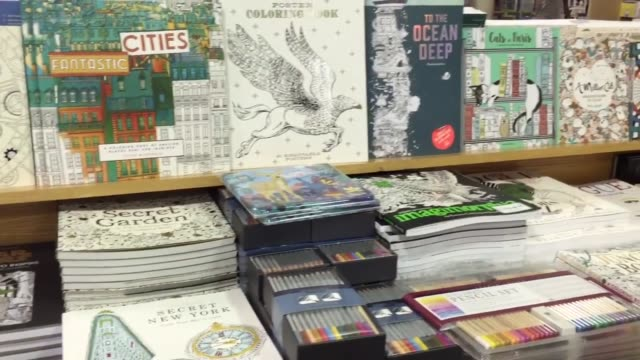 barnes and noble adult coloring books in nyc union square bring store earnings - barnes & noble stock videos and b-roll footage