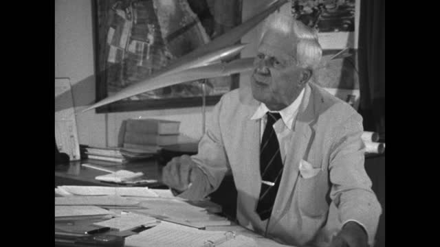 barnes wallis believes all of the greatest discoverers, innovators and inventors have been 'lonely men'; 1967. - medium shot stock videos & royalty-free footage