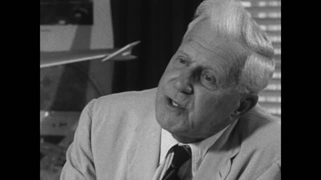 barnes wallis believes that knowing 'nothing' about a subject is positive and a strength when attempting to complete a project or experiment; 1967. - confidence stock videos & royalty-free footage