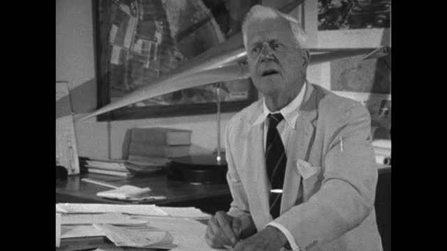 barnes wallis believes the genius of an english gentleman lies in his individuality; 1967. - audio available stock videos & royalty-free footage