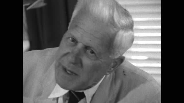 barnes wallis explains his joy on finding out his bouncing bomb theory would work and praises guy gibson and the other test pilots for their bravery... - medium shot stock videos & royalty-free footage