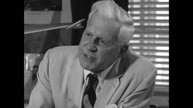 barnes wallis explains his process for generating original ideas lies with looking at what other people have done but also that no knowledge helps... - freshness stock videos & royalty-free footage