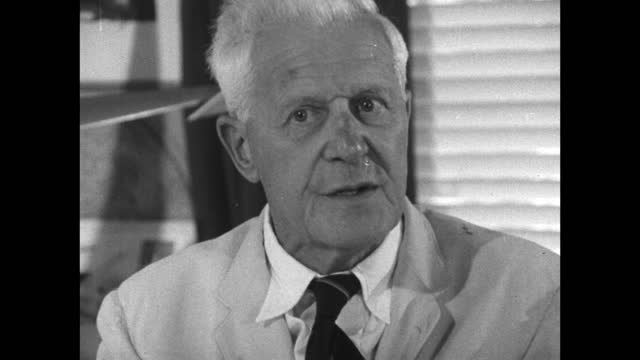 barnes wallis explains how he feels hypersonic flight would be possible in the near future if he could obtain funding; 1967. - medium shot stock videos & royalty-free footage
