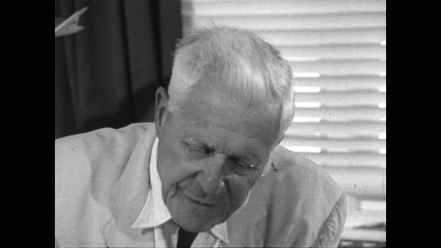 barnes wallis offers his advice on pursuing an idea and conquering adversity and criticism; 1967. - confidence stock videos & royalty-free footage