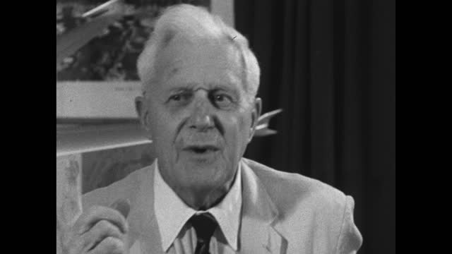 barnes wallis recalls an amusing anecdote of a fellow scientist who felt 99/1000 inventions were 'quite useless'; 1967. - medium shot stock videos & royalty-free footage