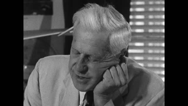 barnes wallis recalls having the production of the r9 airship cancelled by churchill before ww1 then being asked to re-start production a few months... - medium shot stock videos & royalty-free footage