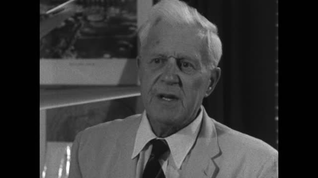 barnes wallis recounts his experiences in obtaining backing and funding for his new ideas; 1967. - medium shot stock videos & royalty-free footage
