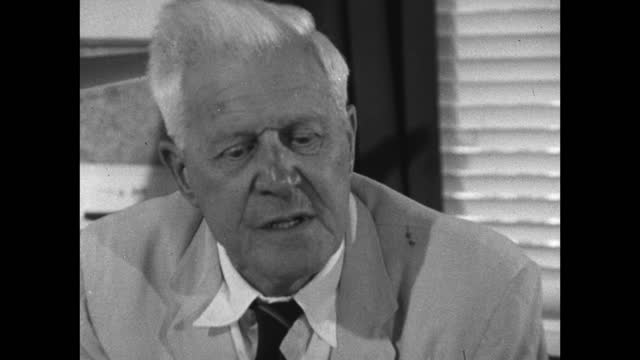 barnes wallis speaking about evaluating his new 'mad' ideas and inventions and deciding which to pursue; 1967. - pursuit concept stock videos & royalty-free footage