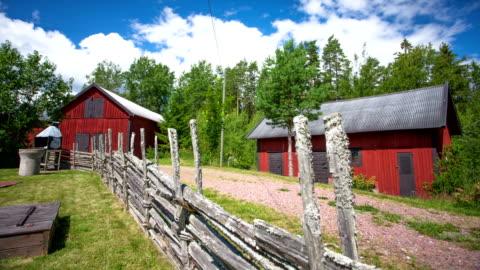 vídeos y material grabado en eventos de stock de dolly lapso de tiempo: barns - sweden