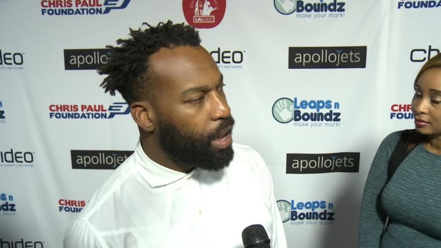 INTERVIEW Baron Davis on the event at The CP3 Foundation's Celebrity Server Dinner Hosted By Chris Paul in Los Angeles CA