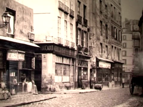 baron georgeseugene haussmann's radical urban renovation changed the face of paris 150 years ago and photographer charles marville was there to... - history stock videos & royalty-free footage