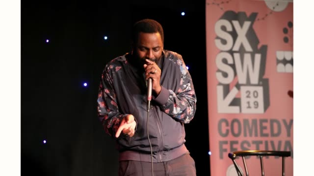 Baron Vaughn speaks onstage at 'The New Negroes with Baron Vaughn and Open Mike Eagle' during the 2019 SXSW Conference and Festivals at Esther's...