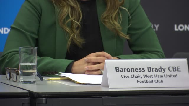 baroness brady attends city hall meeting england london int baroness brady at meeting - カレン ブラディ点の映像素材/bロール