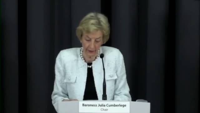 "baroness cumberledge saying ""we have never seen anything like this"" after her report was published - report produced segment stock videos & royalty-free footage"