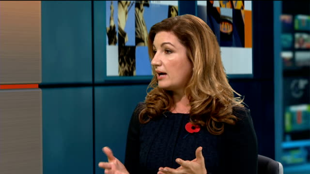 baroness karen brady interview baroness brady live studio interview sot - baroness stock videos & royalty-free footage