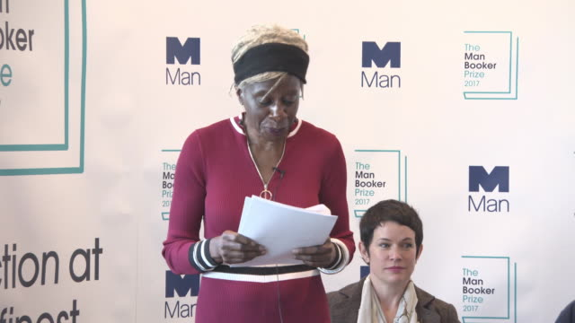 interview baroness lola young announces the shortlist for this years the man booker prize shortlist announcement on september 13 2017 in london... - booker prize stock-videos und b-roll-filmmaterial