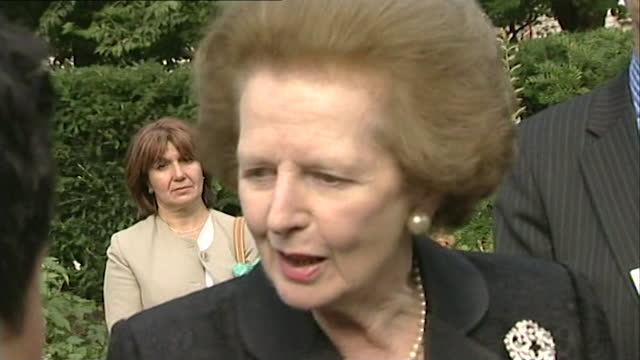 "baroness margaret thatcher reflects on the 9/11 attacks; september 13th, 2001. ""...intense sorrow that it should ever have happened; intense sorrow,... - passion stock videos & royalty-free footage"