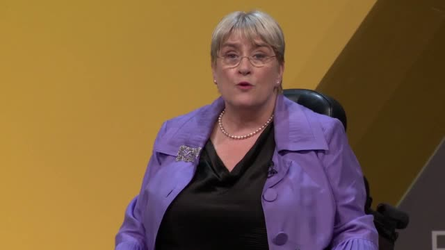 baroness sal brinton president of the lib dems told the party's conference that labour and the conservatives were in 'terminal decline' because of... - british liberal democratic party stock videos & royalty-free footage