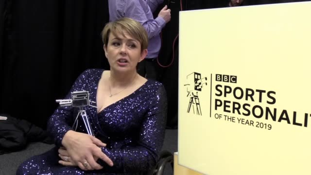 baroness tanni grey-thompson received the sports personality of the year lifetime achievement award to mark a stunning sporting career. wheelchair... - 生涯功労賞点の映像素材/bロール
