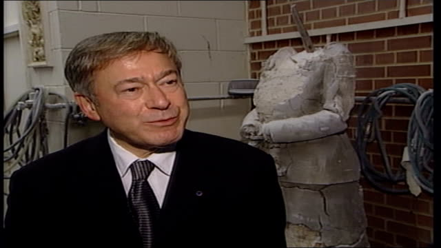 statue unveiled england london deptford marble statue of former prime minister lady thatcher unveiled by tony banks mp in studio of sculptor neil... - tony banks stock videos & royalty-free footage