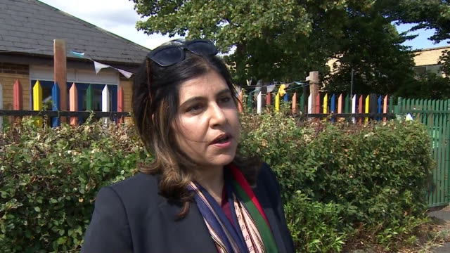 baroness warsi saying boris johnson's comments on muslim women wearing burkas was about getting airtime and attention not for having a serious debate - baroness stock videos & royalty-free footage