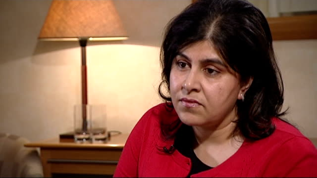 baroness warsi says tories need to attract more of the ethnic minority vote t05081414 / london int baroness warsi during interview cathy newman... - channel 4 news stock videos and b-roll footage