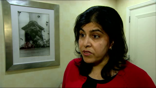 baroness warsi statement announcing her resignation; bbc pool england: london: ext baroness warsi statement sot - over the last four weeks i've done... - moving office stock videos & royalty-free footage