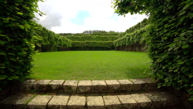 baroque formal garden - lawn stock videos & royalty-free footage