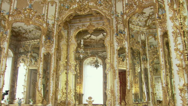 MS TU TD Baroque interior of Munich Residence (royal palace of the Bavarian monarchs), Munich, Bavaria, Germany