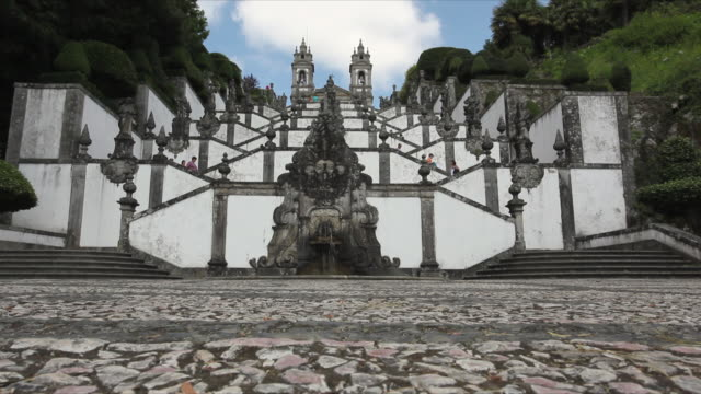 WS Baroque stairway at Sanctuary of Bom Jesus do Monte / Braga, Portugal