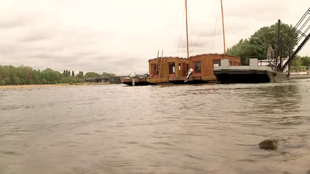 barques on vistula river - barge stock videos & royalty-free footage