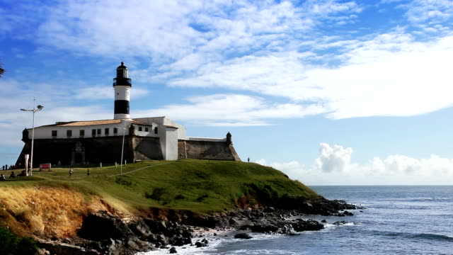 farol da barra in salvador - bahia state stock videos and b-roll footage