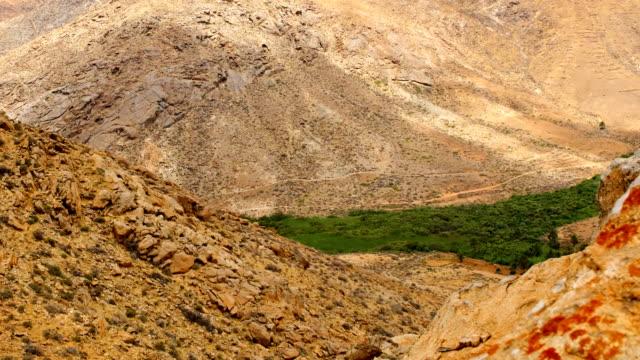 vídeos y material grabado en eventos de stock de barranco de las peñitas lapso video - fuerteventura - oasis desierto